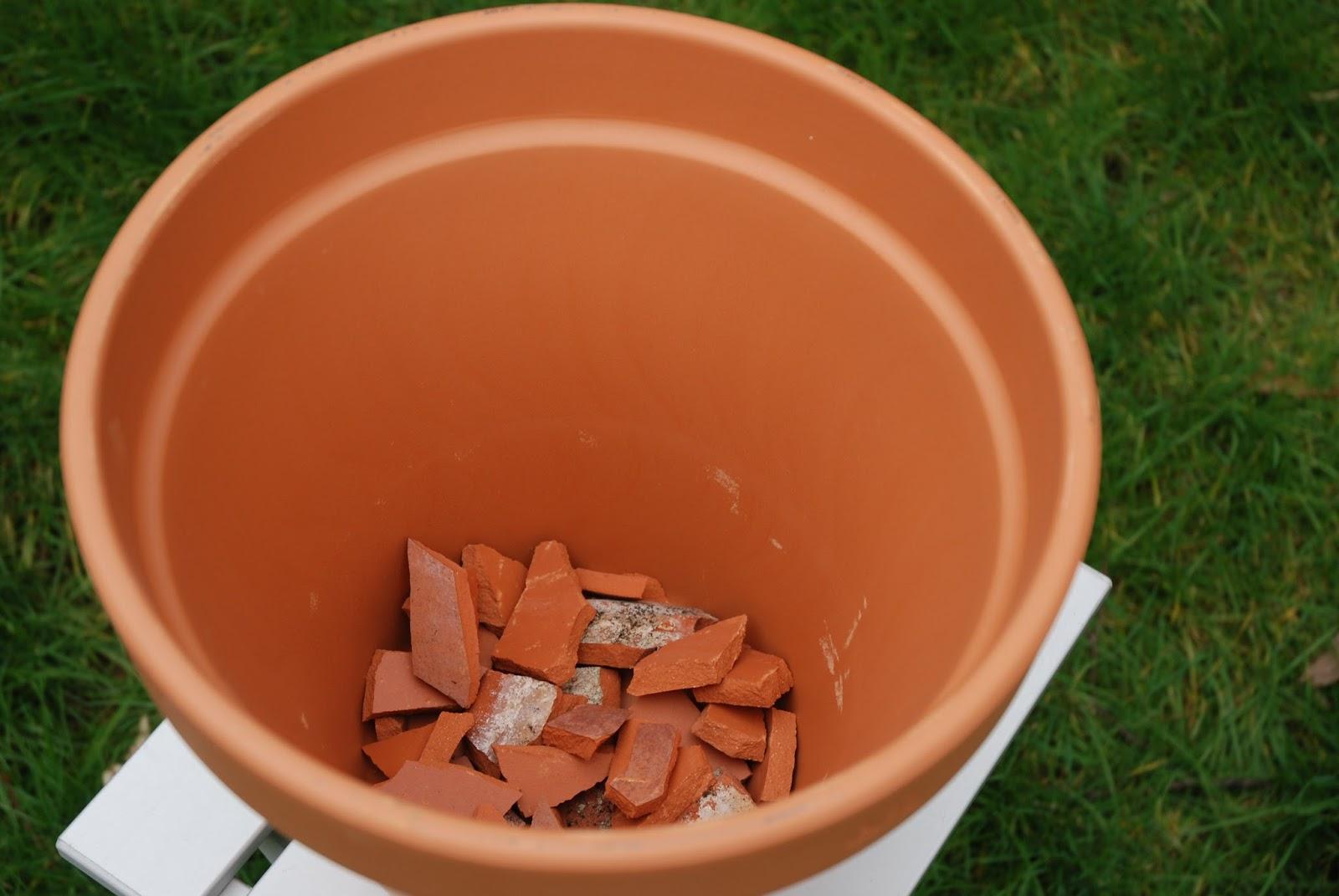 terrace gardening pot preparation for plants. Black Bedroom Furniture Sets. Home Design Ideas