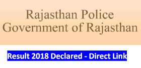 Rajasthan Police Result 2018 Declared - Direct Link to Download