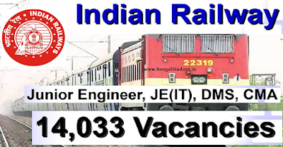 RRB Junior Engineer, Assistant Recruitment 2019  Apply For 14033 Posts-www.bengalstudent.in