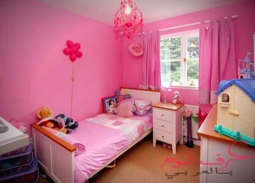 غرف نوم اطفال باللون الوردي مجلة غرف نوم