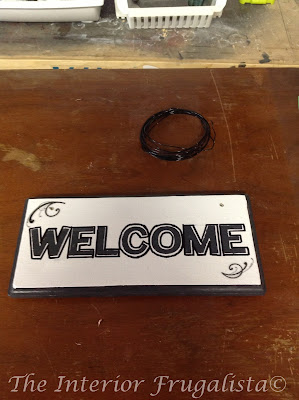 Holes drilled to hang Outdoor Welcome Sign