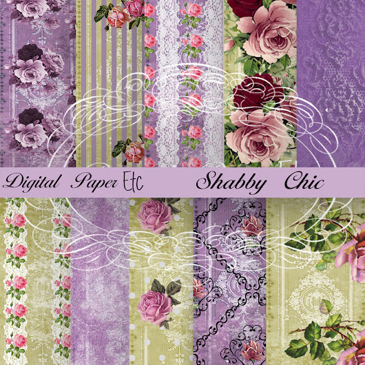 Decoupage, Digital Papers, Digital Background, Scrapbook Paper