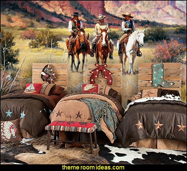 Horse Themed Bedroom Decorating Ideas Part - 39: Cowboy Bedrooms Cowboy Bedding Cowboy Wall Murals Cowboy Theme Decorating  Ideas