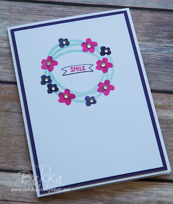 Memories in the Making Simple Smile Card made with Stampin' Up! UK Supplies which are available here