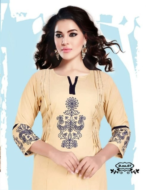 Rishika Shruti Rayon Embroidered Casual wear kurtis wholesaler