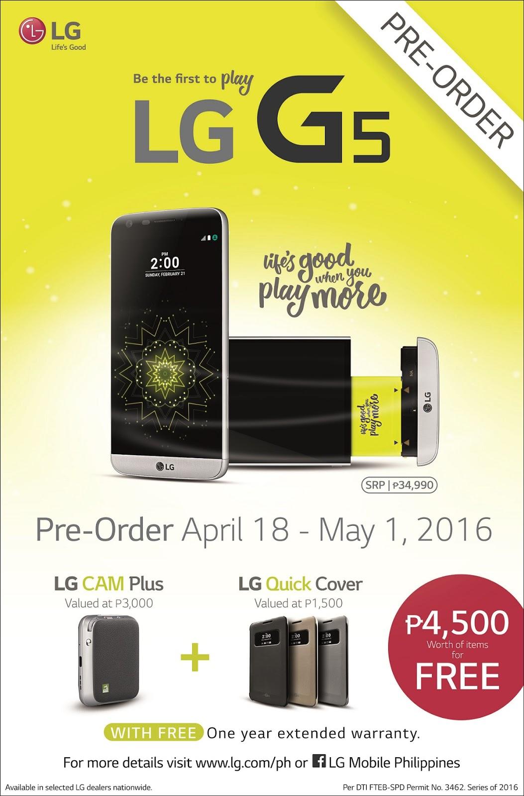 LG G5 Pre-order