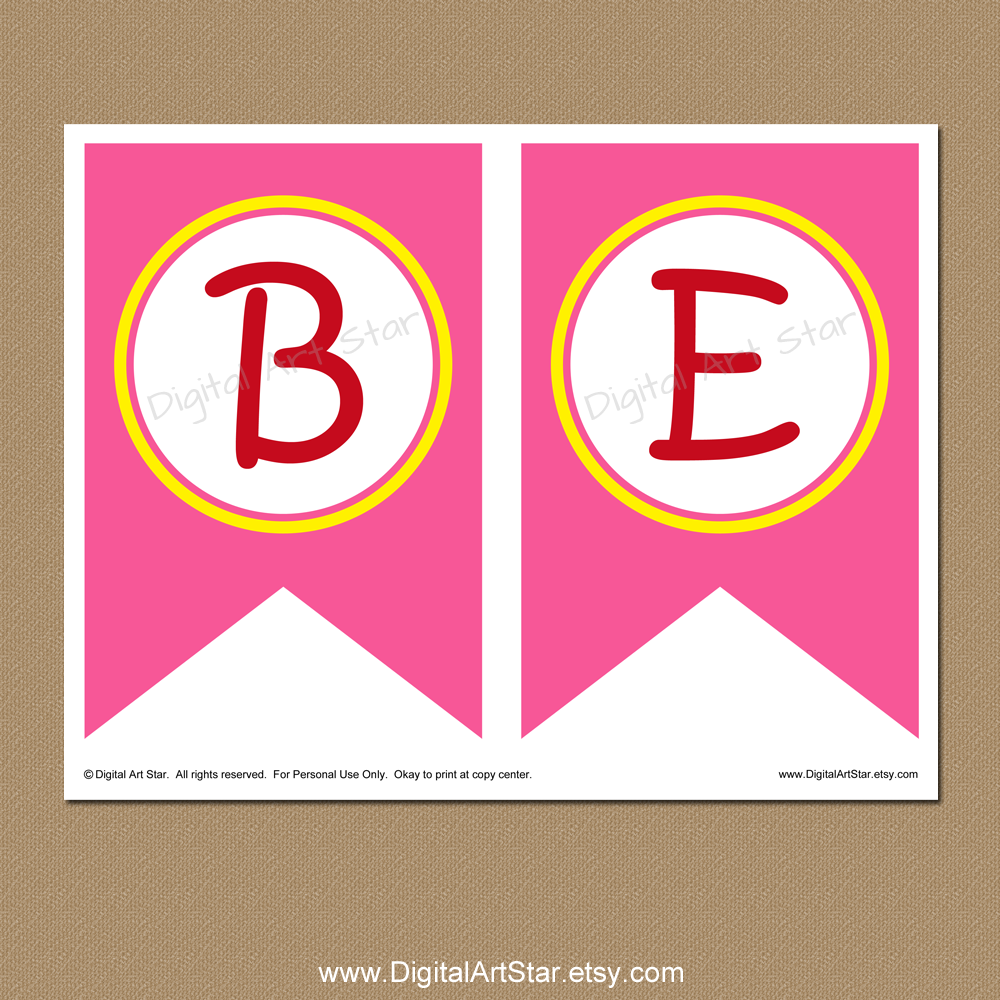 Printable banner pages for kids bumble bee Valentines Day banner