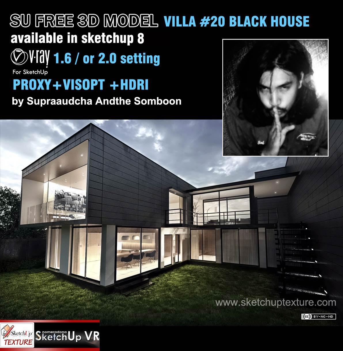 3d Home Design Deluxe 6 Free Download: Free Sketcup Model, Vray Setting , Hdri, Proxy, Villa #20