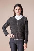 Jacheta neagra din tricot