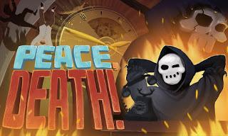 Peace, Death! oyununda çox xüsusi bir işiniz var. Oyunda ölmüş insanların cənnətə və ya cəhənnəmə gedib getməyəcəyi qərarını siz verirsiniz.