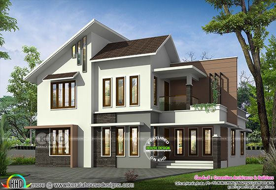 2504 sq-ft modern 4 bedroom home plan