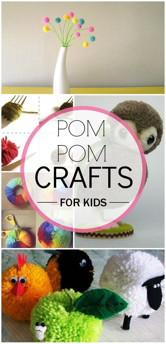 5 Adorable Pom Pom Crafts For Kids