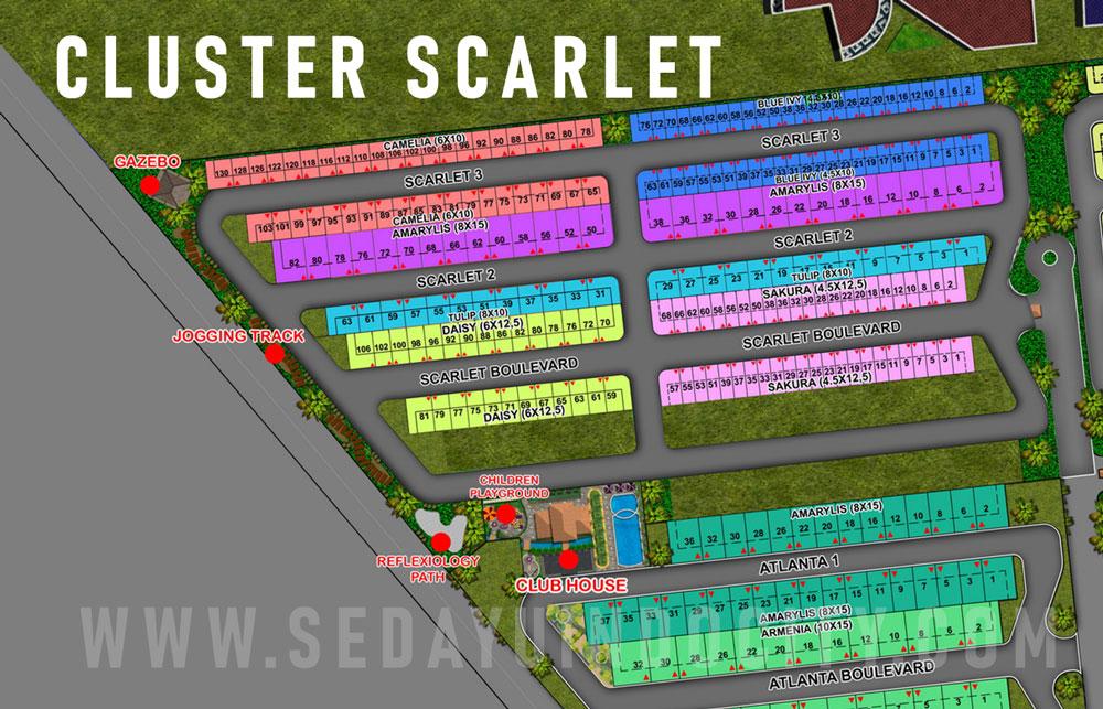 Site Plan Cluster Scarlet PIK 2