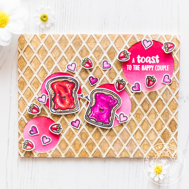 Sunny Studio Stamps: Staggered Circle Dies Breakfast Puns Punny Card by Mona Toth