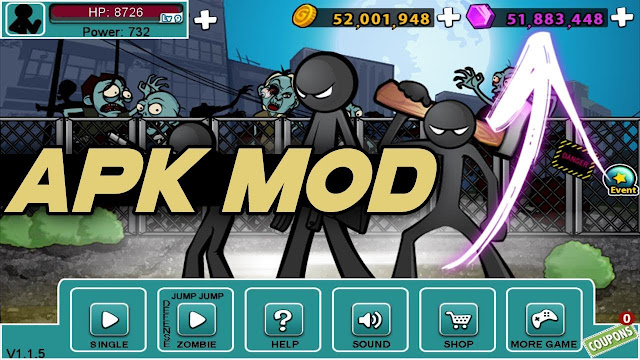 Anger Of Stick 5 Zombie Mod Apk Terbaru 2019 [Unlimited Money]