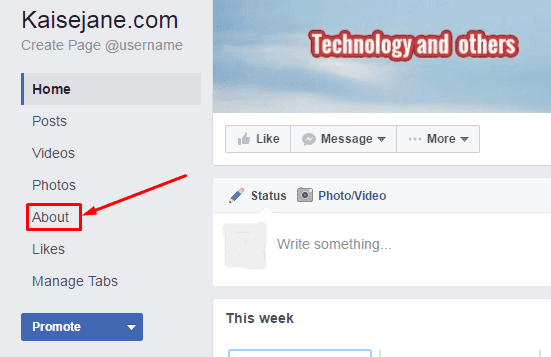 how to change name of a page in facebook