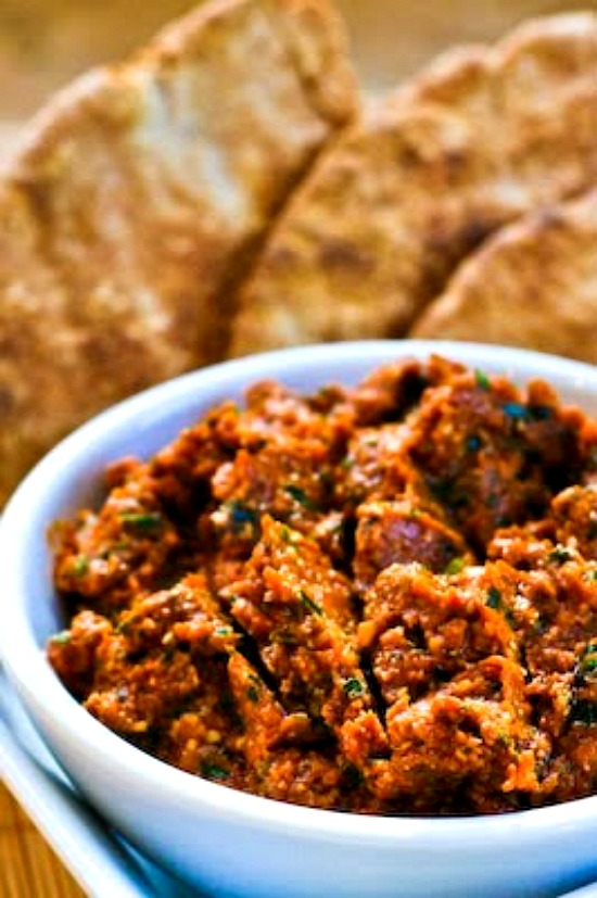 Sun-Dried Tomato Tapenade with Garlic and Herbs found on KalynsKitchen.com