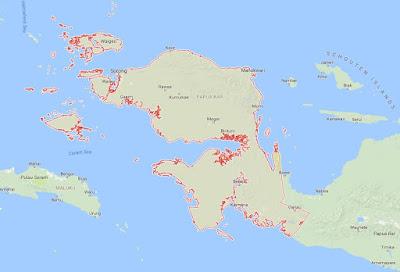 Peta Wilayah Provinsi Papua Barat