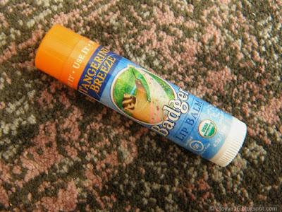 Badger Company, Organic, Lip Balm, Tangerine Breeze - мандариновый увлажняющий бальзам для губ