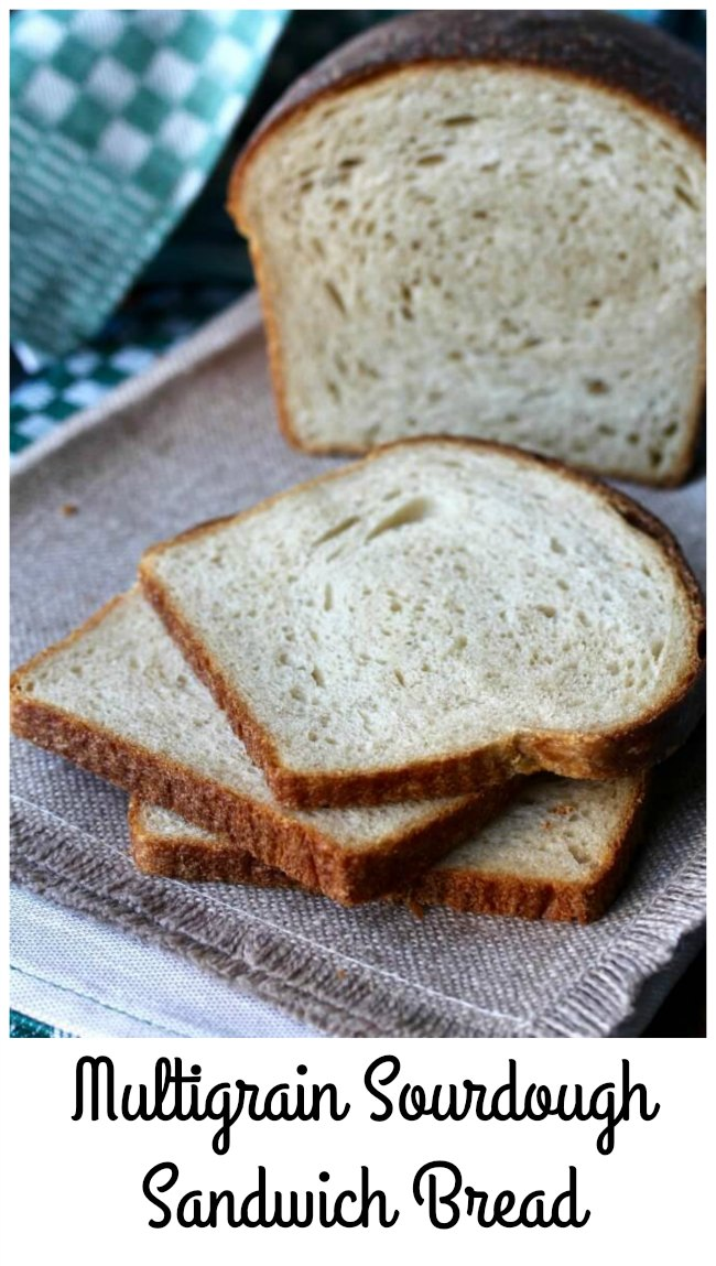 This multigrain sourdough sandwich bread is a great way to use your sourdough starter to make a soft pan bread perfect for slicing and making toast and sandwiches.