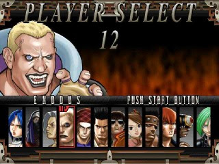 Fighting Layer select player screen