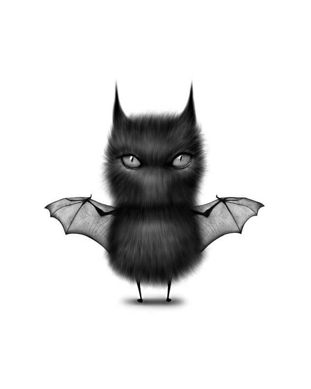 10-Bat-Cat-Maria-Fluffy-Animals-in-Digital-Art-Creatures-www-designstack-co