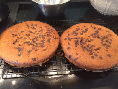 Chocolate Chip Ginger Cake on cooling rack