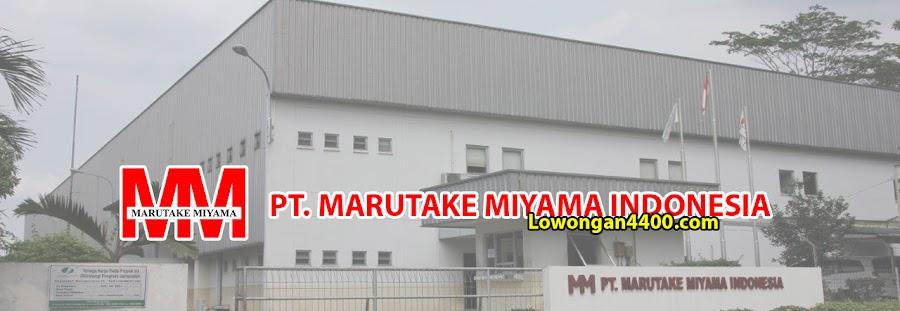 Lowongan Kerja PT Marutake Miyama Indonesia Karawang 2021