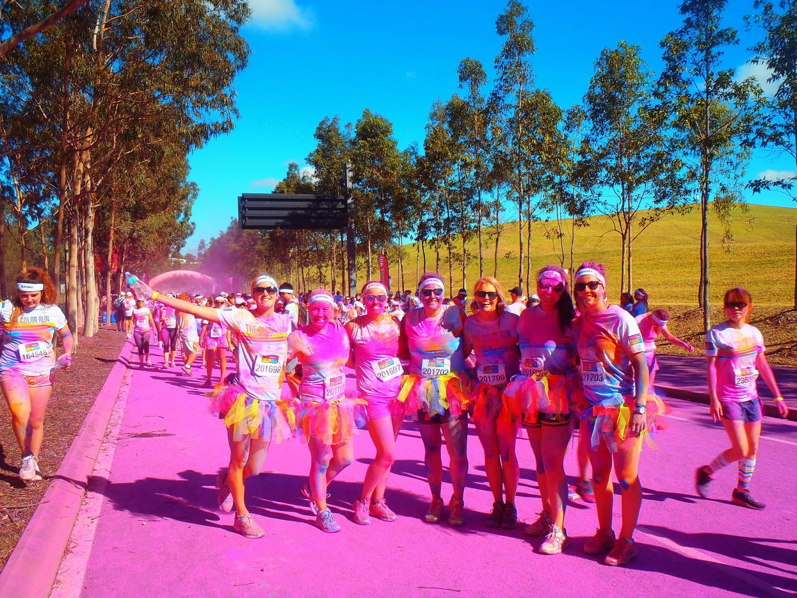 the girls in the pink area