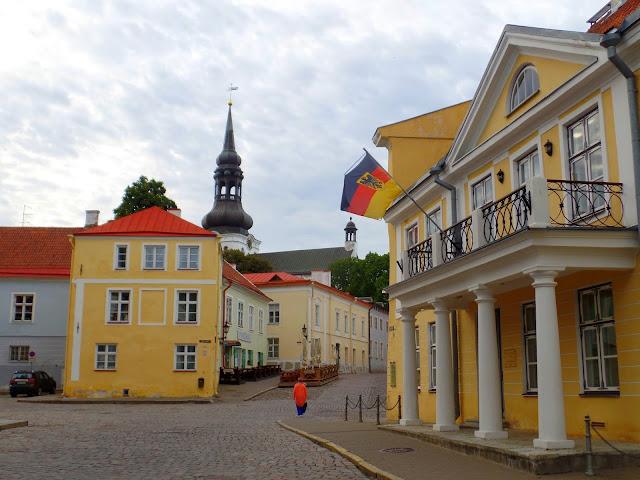Estonia Tallinn Germany Toompea Calles Streets Building