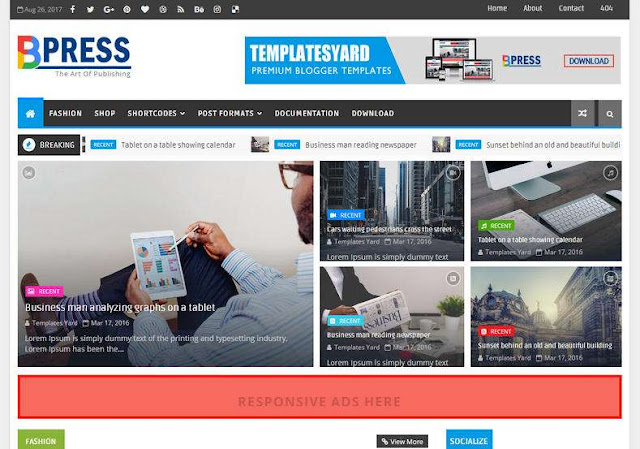 BPress Magazine Blogger Theme