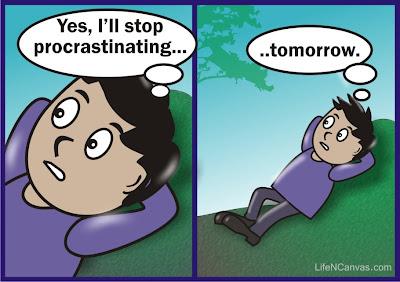 I'll stop procrastinating tomorrow cartoon