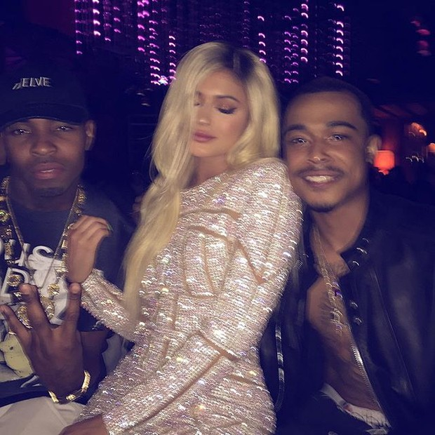 Kylie Jenner with friends at his birthday party