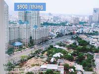 Thuê chung cư Saigon Pearl 2 phòng ngủ - view đường Nguyễn Hữu Cảnh và The Manor