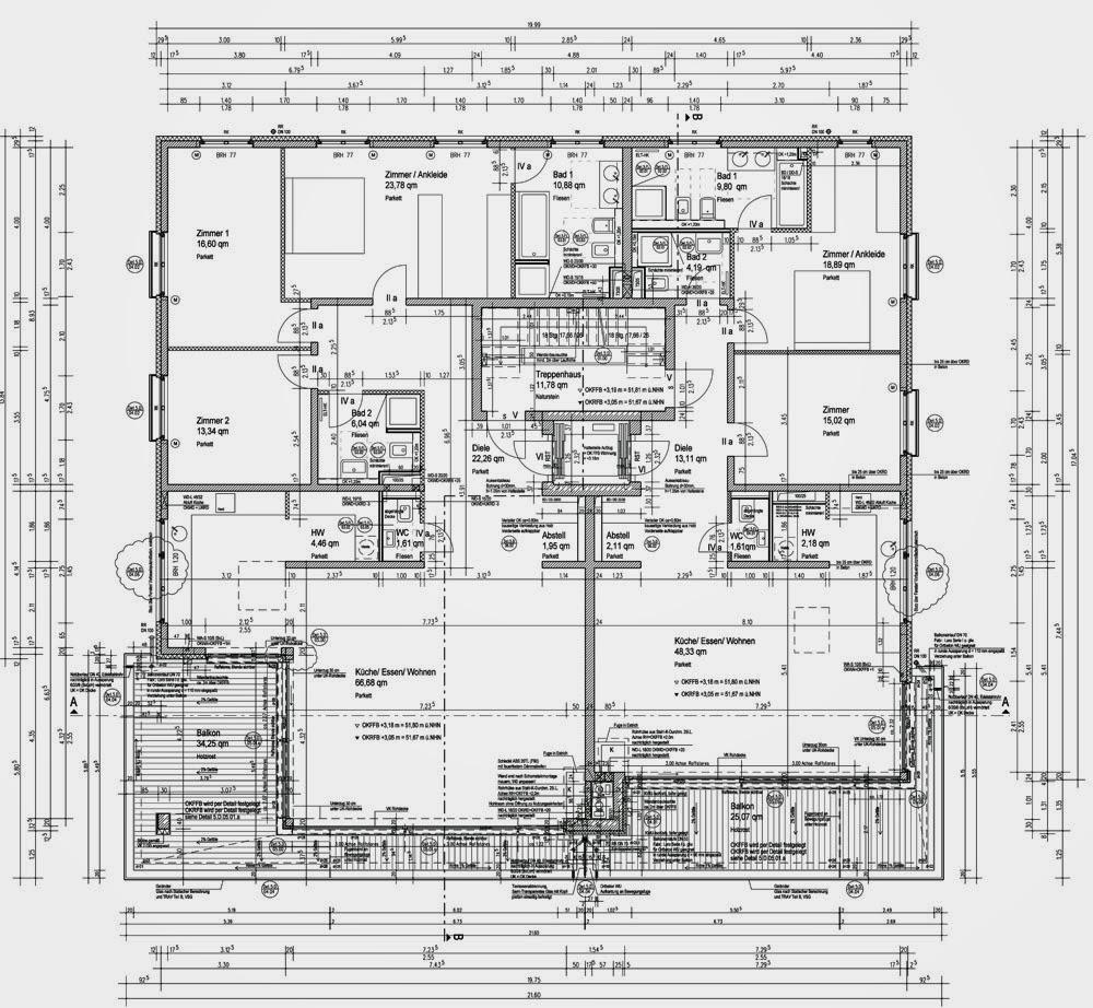 Ausfhrungsplanung Grundriss Grundriss Zeichnen