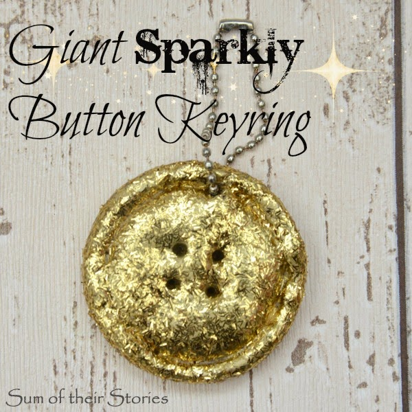 Giant Sparkly Button Key Ring