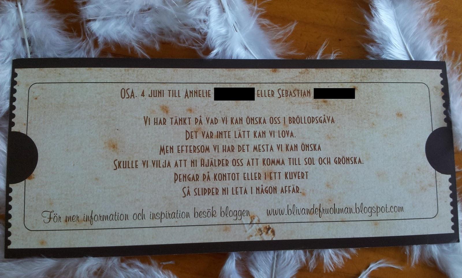inbjudan 30 års fest rim Blivande fru Öhman: Väskan och inbjudan inbjudan 30 års fest rim