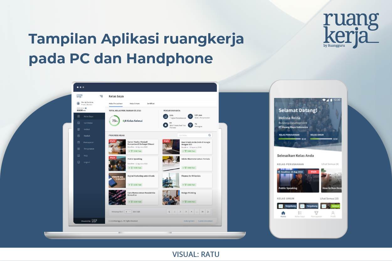 Tampilan Aplikasi Ruangkerja.id