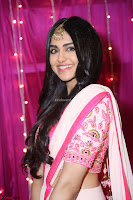 Adaa Sharma in White Pink Saree at Zee Telugu Apsara Awards 2017 12.JPG