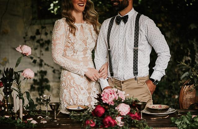 alicia rueda bohemia novia corona flores blog bodas perfecto