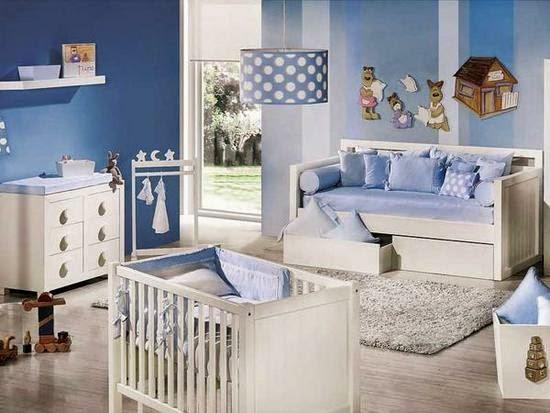 habitacin de beb con paredes celestes y muebles blancos un diseo de dormitorio infantil con una atmsfera muy relajante que emula el cielo azul with color