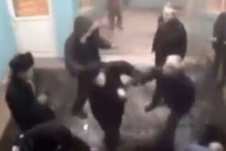 Knife attack gang beaten up by old man