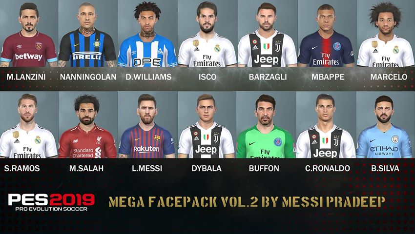ultigamerz: PES 2019 Mega Face-Pack vol  2