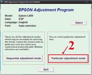 Download Resetter Epson L800 dan Cara Menggunakannya