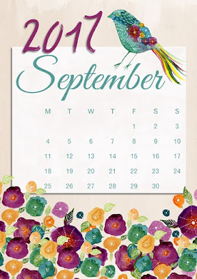 2017 September calendar pic