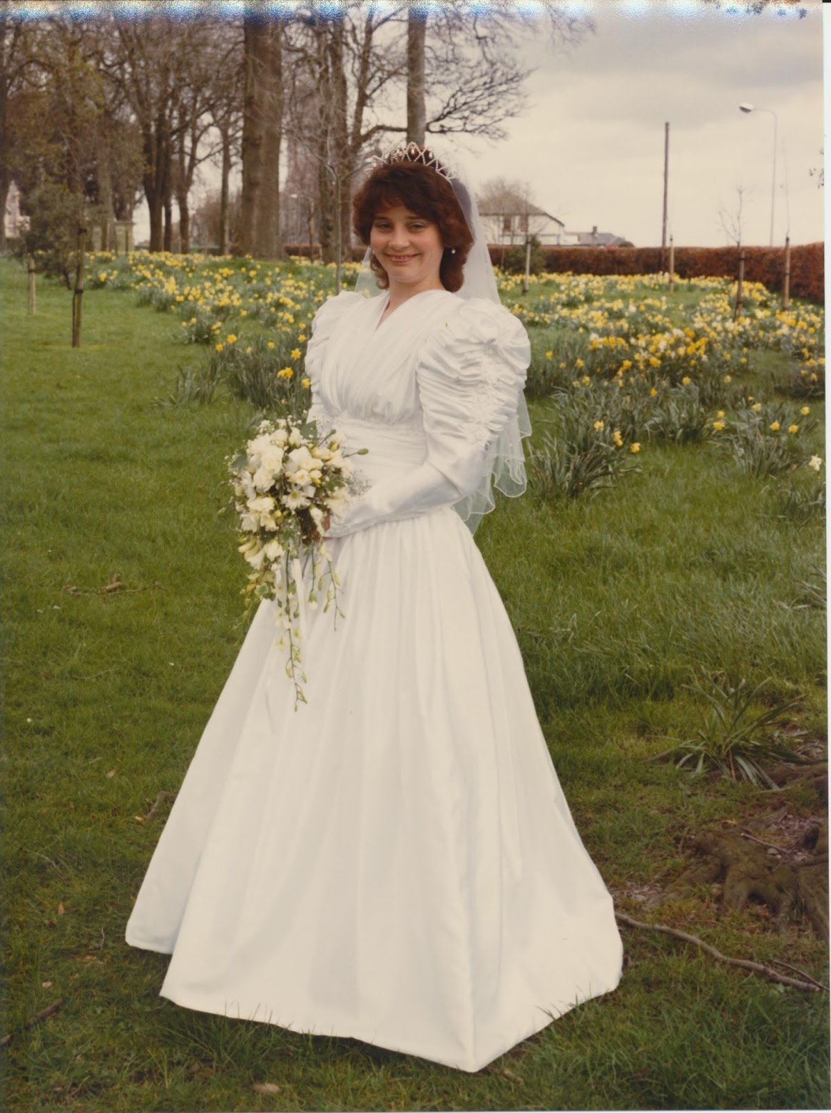 1987 wedding dress by Pronovias worn by Is This Mutton's Gail Hanlon