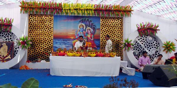 कलशयात्रा के साथ भागवत कथा का सप्त दिवसीय आयोजन का हुआ श्रीगणेश