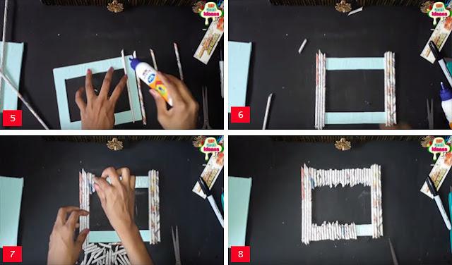Cara Membuat Bingkai Foto dari Koran