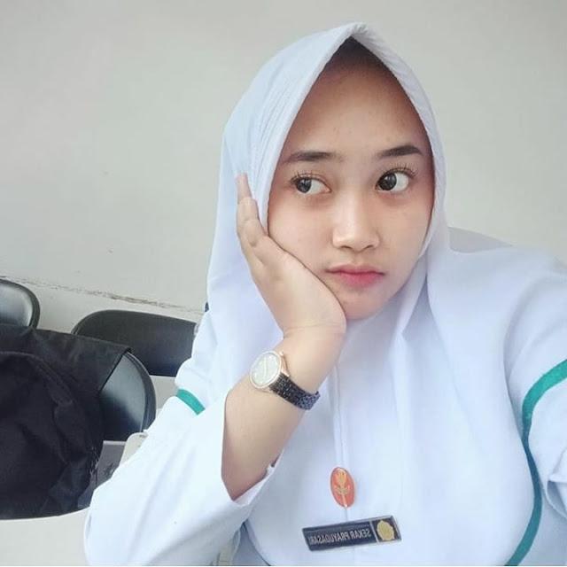 Beautiful Nurse Wearing a Hijab