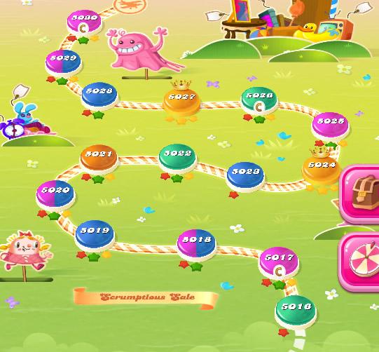 Candy Crush Saga level 5016-5030